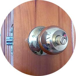 Открытие замка межкомнатной двери